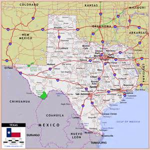 texa map highway and road map maps