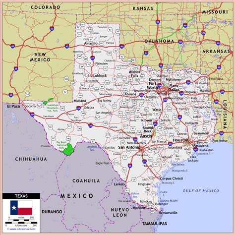 road map of texas highways texas maps map legend map copyright world atlas sitesatlas all diva1
