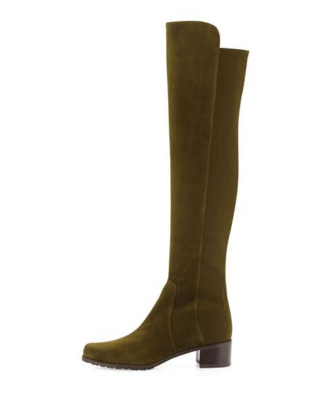 stuart weitzman the knee boots stuart weitzman reserve suede the knee boot in green