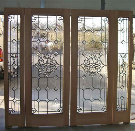 Door Insert Stained Glass Door Inserts And Wrought Iron Beveled Glass Door