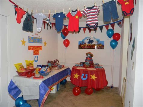 western theme baby shower decorations western cowboy baby shower ideas photo 2 of 27