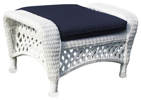 wicker footstools ottomans white outdoor wicker ottoman montauk collection