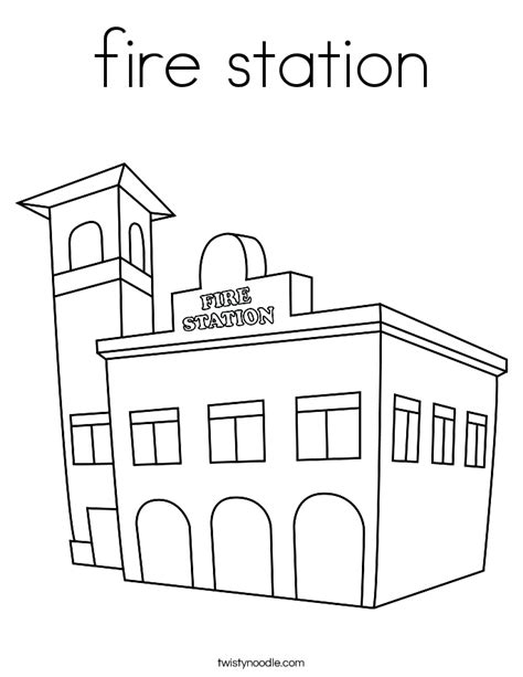 coloring book for building fire station coloring pages