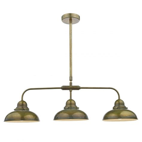Dyn0342 Dynamo 3 Light Bar Pendant Weathered Brass Pendant Light Bar