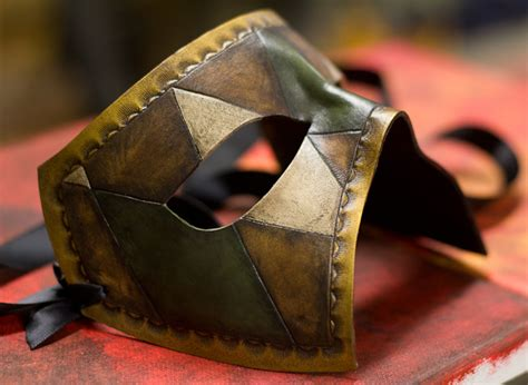 Handmade Leather Masks - handmade leather mask by osbornearts on deviantart