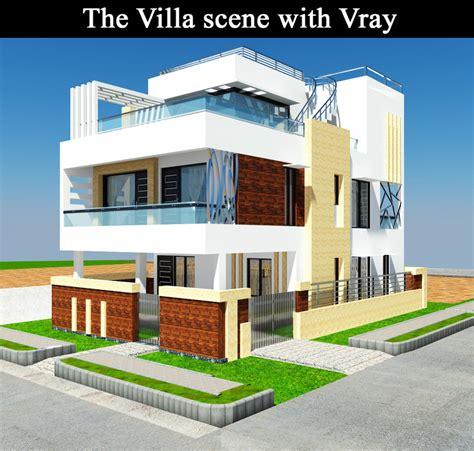 villa exterior 3d model 40 complete success clipgoo 3d villa exterior model