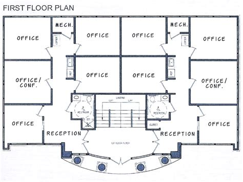 build floor plan small commercial office building plans commercial office