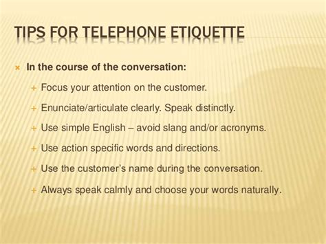 7 Crucial Tips On Telephone Etiquette by Telephone Etiquette