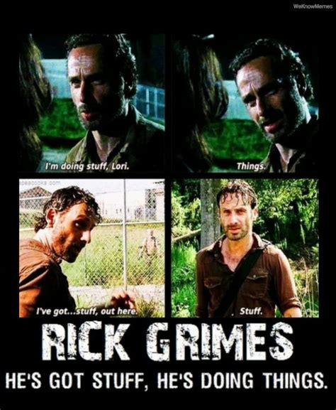 Rick Grimes Meme - sticktosports i read the walking dead comics i have