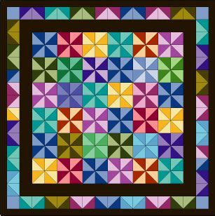 quilt pattern drawing use a multicolored fabric to inspire a quilt design