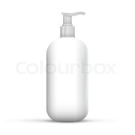 Soaps Shower Gels Clean plastic clean white bottle with dispenser shower gel