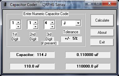 capacitor code calculator excel capacitor coder 07 02 1999 incl serial keygen