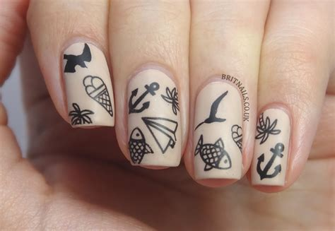 nail tattoo nail brit nails