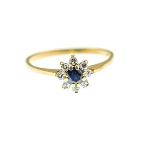 antiques atlas vintage sapphire flower ring