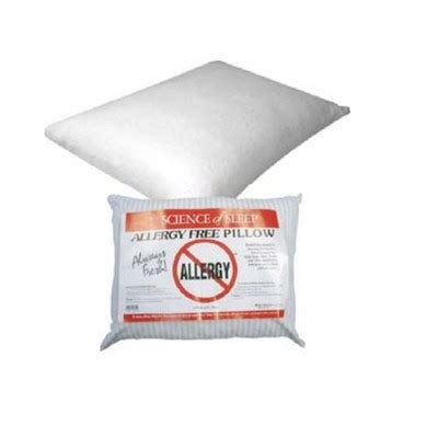 allergy free pillow science of sleep allergy free pillow standard