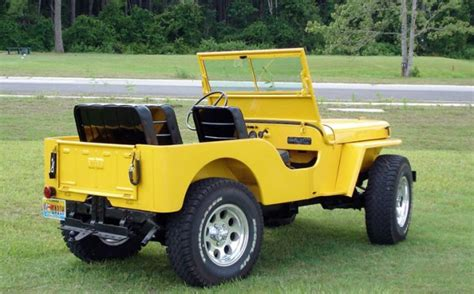 old yellow jeep quot yellow bird quot 1947 cj 2a an old friend