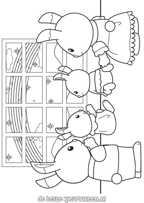 free coloring pages of sylvanian families