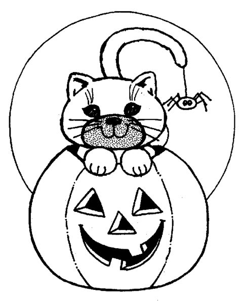 coloring page halloween cat halloween cat 2 coloring page