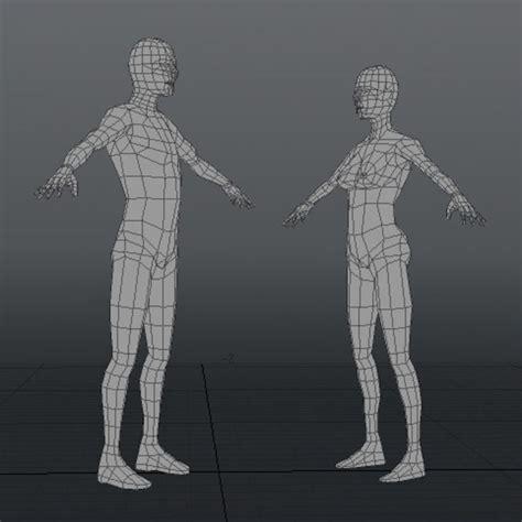 figure 3d model free low polygon human figure templates 3d model 25 obj