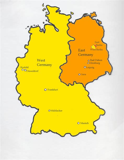 map east germany west germany east and west germany map