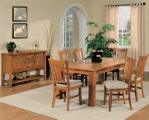 Light Oak Finish Casual Dining Room Table W Optional Chairs Light Oak Dining Room Sets