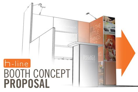 booth design proposal h line trade show solution