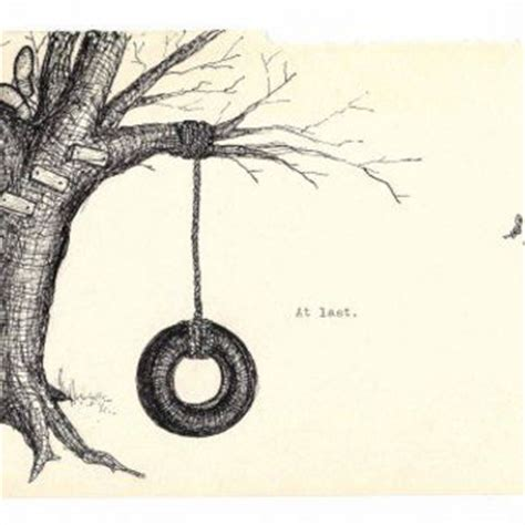 how to draw a tire swing tree with tire swing drawing www pixshark com images