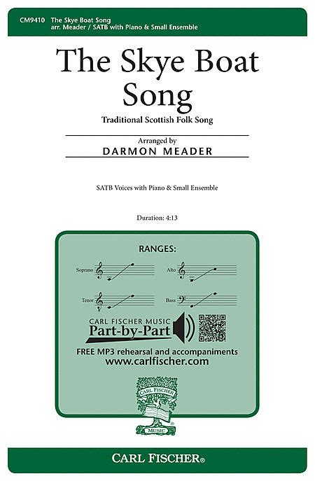 skye boat song in d the skye boat song sheet music by darmon meader sheet