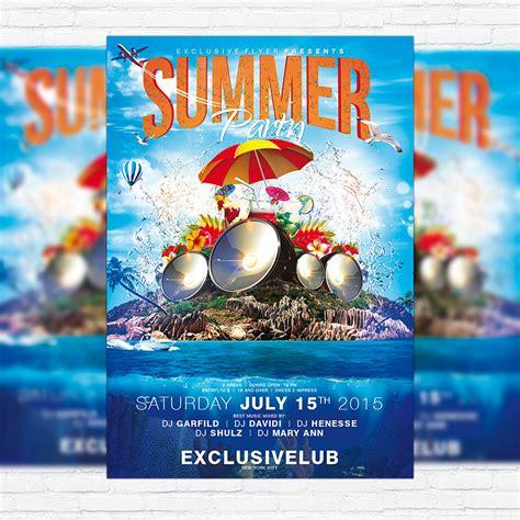 top 50 summer beach party flyer templates 56pixels com
