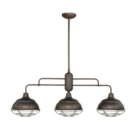 Island Kitchen Lighting Fixtures Shop Millennium Lighting Neo Industrial 10 25 In W 3 Light Rubbed Bronze Kitchen Island Light