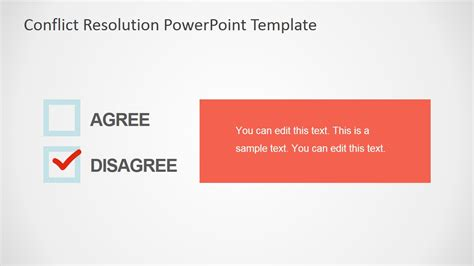 conflict resolution powerpoint template slidemodel