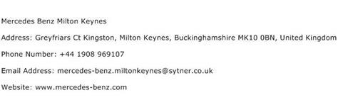 mercedes milton keynes address contact number of