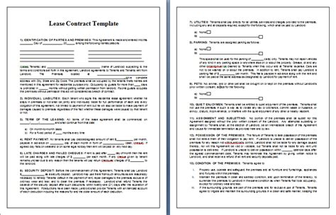 lease contract template lease contract template tips guidelines