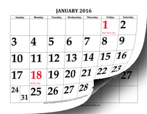 large print calendar template printable 2016 calendar with large print