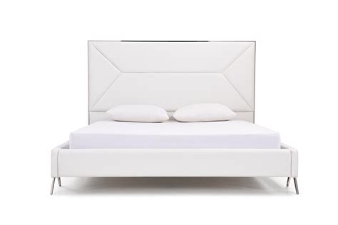 white modern bed modrest candid modern white bed
