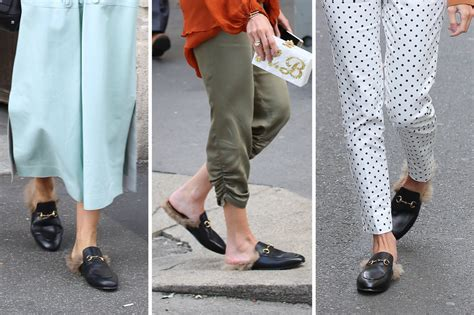 Flatshoes Loafers Gucci Milan Slip On Gucci Slippers sapatos e bolsas que marcaram as fashion weeks 2016