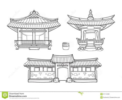 hanok house floor plan hanok korean traditional architecture vector stock vector illustration of element korea 61114489