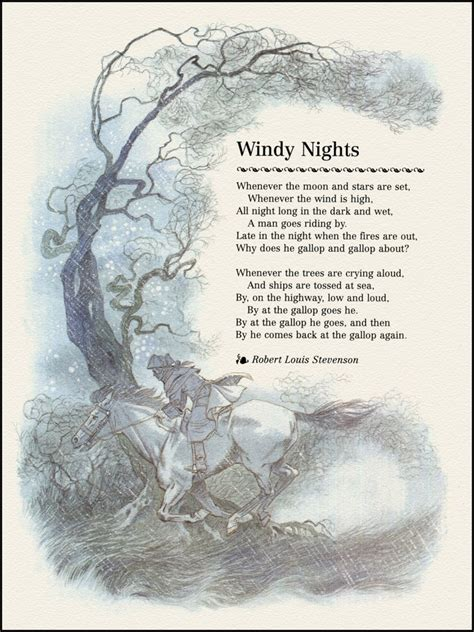 is the wind poems books quot windy nights quot by robert louis stevenson illustrated by