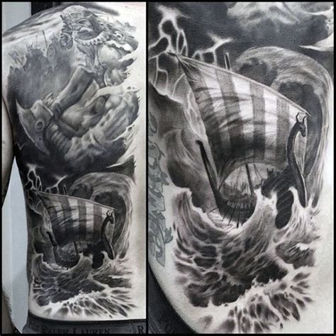 tattoo 3d viking 50 cool back tattoos for men expansive canvas design ideas