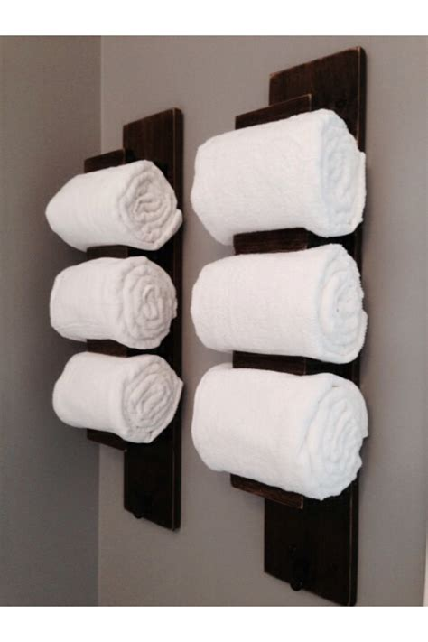 bathroom wall towel holder wooden bathroom towel rack by tinbarncreations on etsy