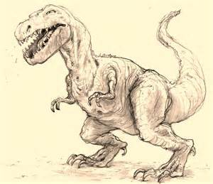 webster colcord dinosaur in pencil