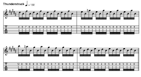 AC/DC - Thunderstruck excerpted from riffs for guitars ... Ac Dc Thunderstruck Guitar Tabs