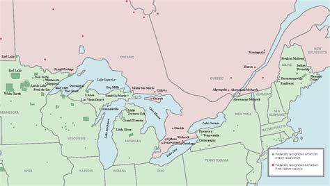 border of canada and usa map kanada kartenrand