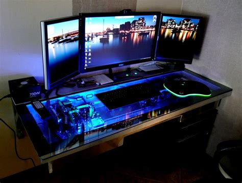 Computer Desk For Gaming Pc Gaming Computer Desk Plushemisphere