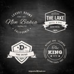 retro logo templates hotel logo templates in a retro style vector free