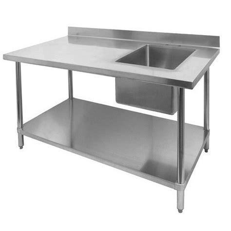 stainless steel single kitchen sink work table shape