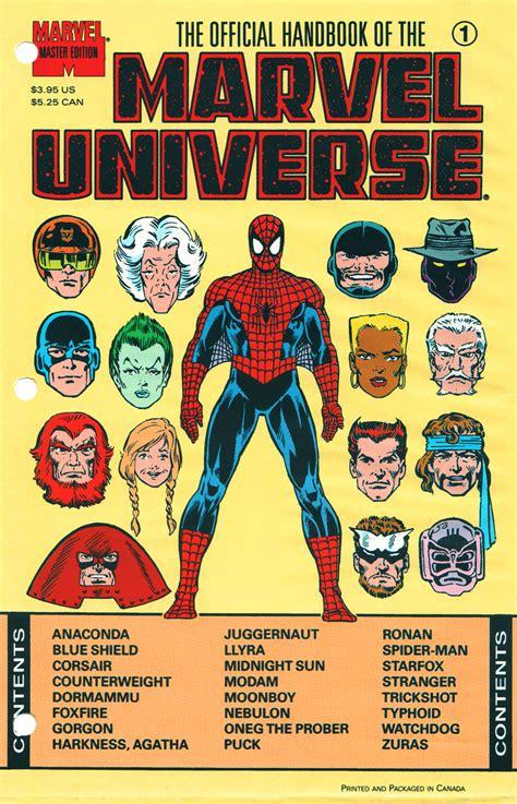 Master Vol 6 1 official handbook of the marvel universe master edition vol 1 1 marvel database fandom