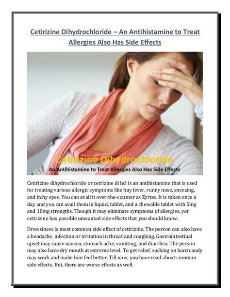 Antihistamine Also Search For Cetirizine Dihydrochloride An Antihistamine To Treat Allergies Also