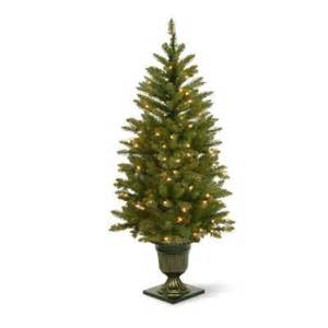 4 5 ft pre lit led dunhill fir potted artificial