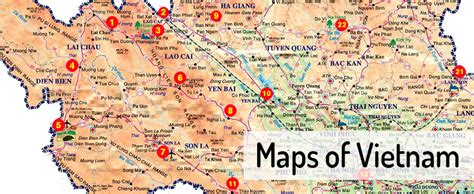 printable vietnam road map maps northern and southern vietnam sites northern